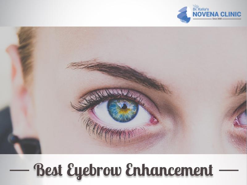 Eyebrow enhancement treatment
